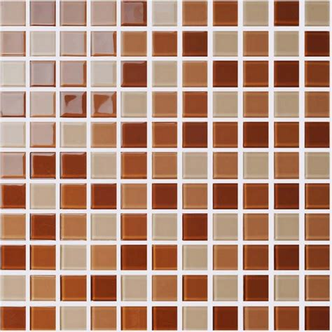 wholesale glass mosaic for swimming pool tile sheet brown