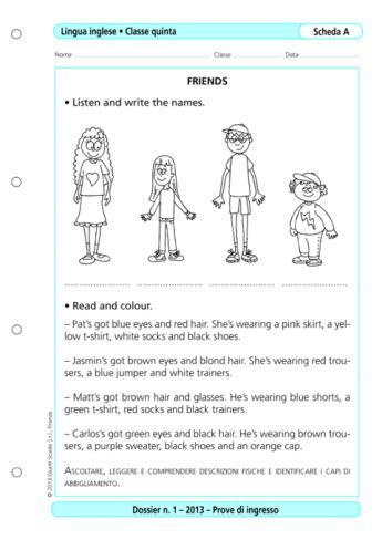 prove d ingresso lingua inglese scuola primaria prove d ingresso inglese classe 5 la vita scolastica