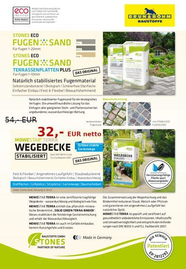 Stones Eco Fugensand Preis by Stones Eco Fugensand Stones Eco Fugensand F R 1 10mm