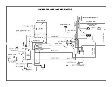 Kohler Wiring Harness Bush Hog Zero Turn Mowers User