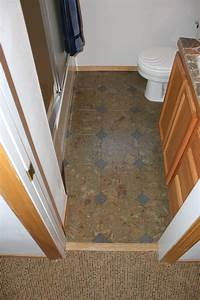 30 slate bathroom tile pictures for How to install floating cork flooring