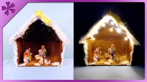 diy christmas crib  lights eng subtitles speed