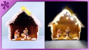 DIY Christmas crib with lights (ENG Subtitles) - Speed up
