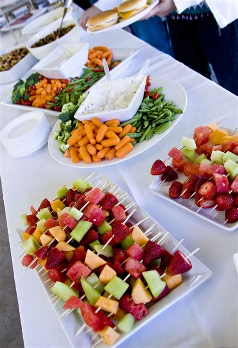 Veggie Trays Like This And Fruit Kabobs For The Wedding