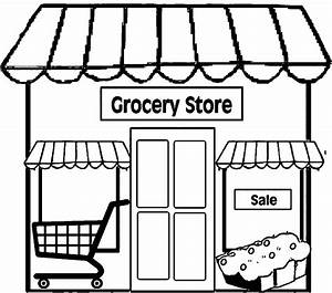 Restaurant Building Simple Restaurant Coloring Page ...