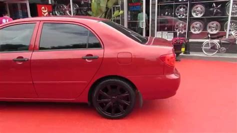 hillyard custom rim tire 2006 toyota corolla riding on 17