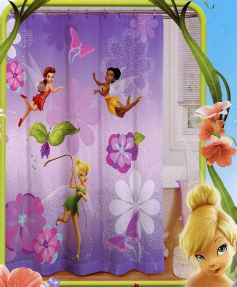 tinkerbell shower curtain bathroom decor pinterest