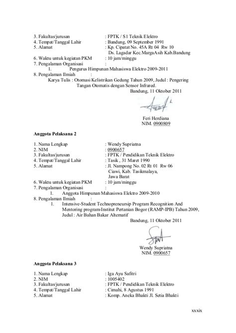 Contoh Proposal Pkm Yang Didanai Dikti