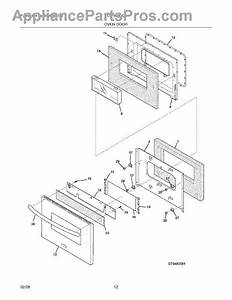 Parts For Frigidaire Plgf659gca  Oven Door Parts