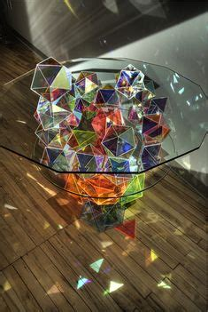 Amazing Sparkle Palace Cocktail Table by Decorative Window Holographic Prismatic