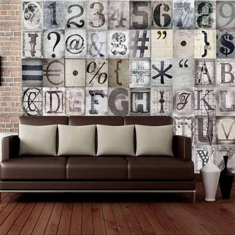 wall typography letters  piece creative collage wall