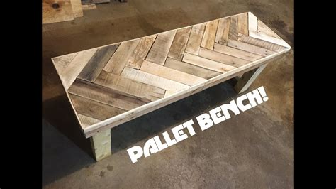 diy herring bone patterned pallet bench youtube