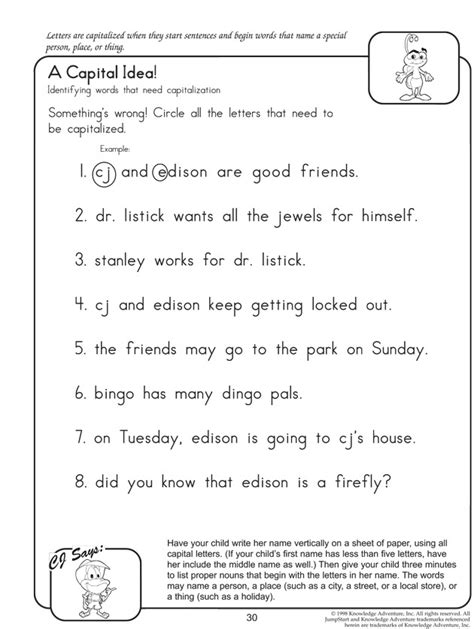 English Worksheets For 2nd Grade Grammar Homeshealthinfo