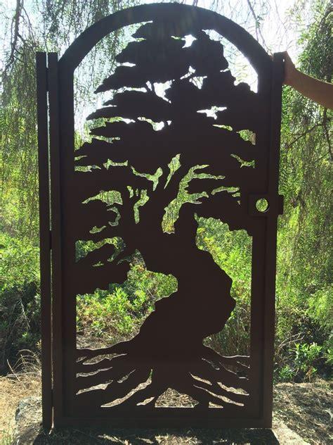 buy a crafted bonsai tree gate metal pedestrian
