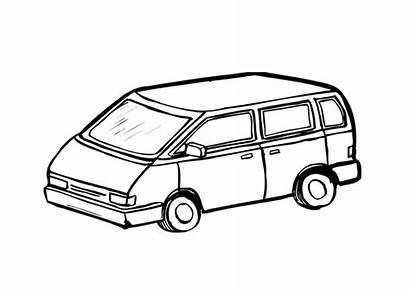 Coloring Minivan Pages Printable Edupics