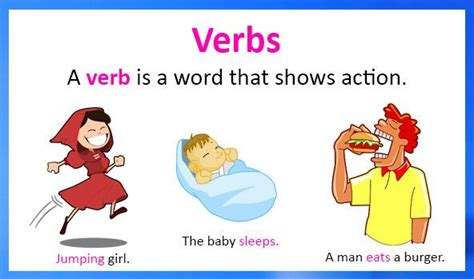 Verb Scow Meaning by Learn About Verbs Grammar Parts Of Speech Verbs