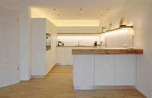 Küche Weiß und Altholz Schreinerei Baier DIY und