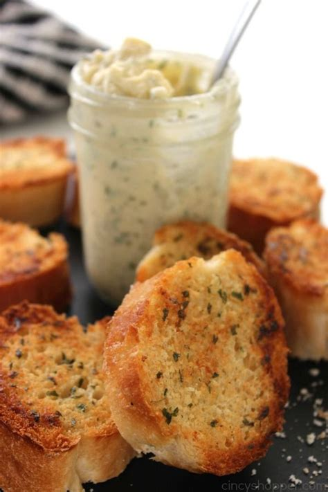 Easy Garlic Butter Spread Recipe Homemade Butter And