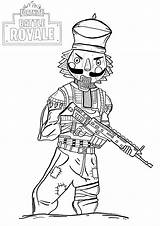 Fortnite Coloring Pages Anyone Gift Perfect Royale sketch template