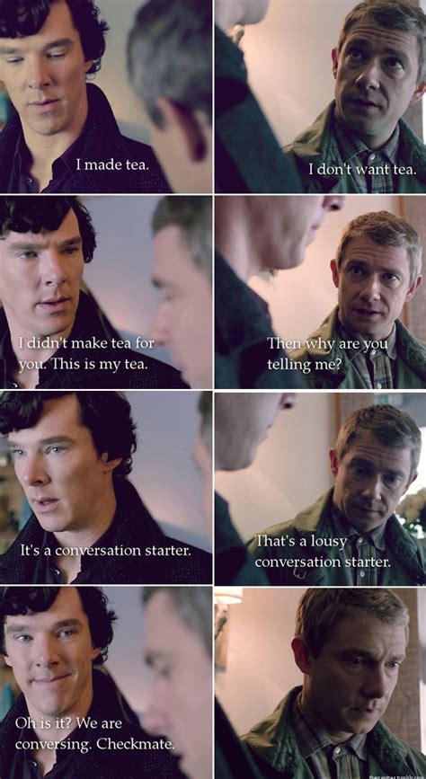 sherlock holmes bbc funny memes meme conversation john starter fandom lol benedict jpegy watson theory quotes guy cumberbatch starters bang