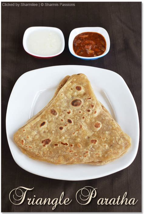 Triangle Paratha  Triangle Roti Recipe  Easy Paratha