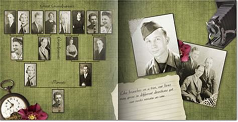 family tree book template step by step tips for creating a family history genealogy photo book digital photos 101