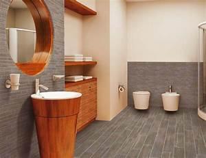 Holz Für Badezimmer : boden mit authentisch wirkenden fliesen in holz optik ~ Frokenaadalensverden.com Haus und Dekorationen