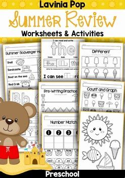 Summer Review Preschool No Prep Worksheets & Activities By Lavinia Pop