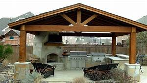 Patio structures ideas, bar and outdoor kitchen designs