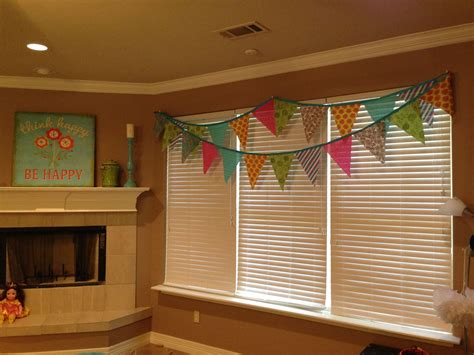 Girls Game Room Flag Banner Valance New House Ideas