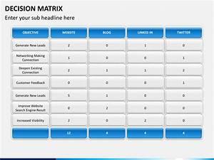 powerpoint decision matrix sketchbubble With decision matrix template free download