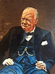 Unknown - Winston Churchill Large Portrait Oil Painting at ...