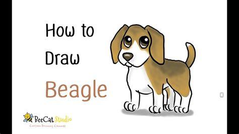 How To Draw A Cute Cartoon Beagle (cartoon Dog)