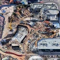fantasyland construction site aerial imagery