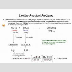 Excess Reactant  Ppt Video Online Download