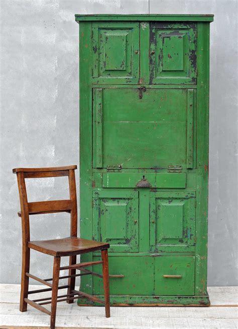bureau original rustic vintage bureau cabinet original green paintwork