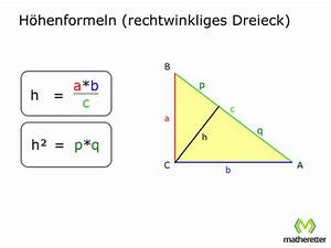 Höhe Berechnen : tri03 rechtwinklige dreiecke satz des pythagoras matheretter ~ Themetempest.com Abrechnung