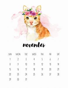 Free Printable 2020 Watercolor Animal Calendar - The ...