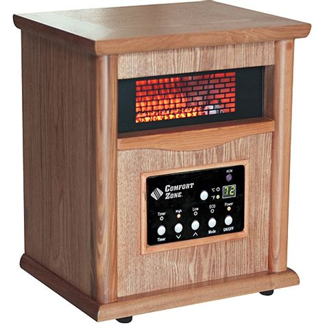 comfort zone heaters comfort zone 5 120 btu electric radiant heater gray