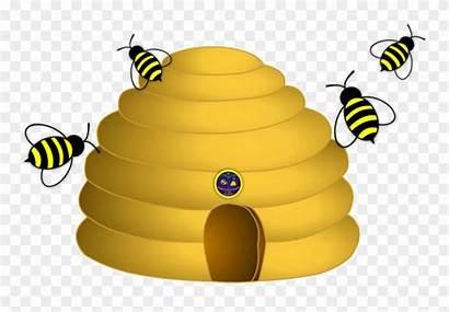 Bee Hive Clipart Clip Honey Bumblebee Yellow