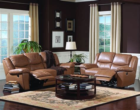 brown vinyl leather living room sofa wrecliner seats