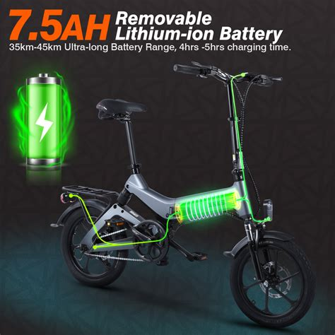 dohiker  pollici bicicletta elettrica pieghevole  batteria ah  offerta lgd informatica