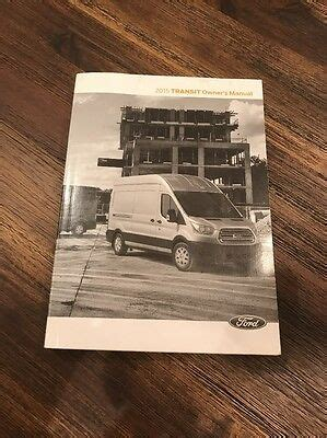 ford transit owners manual ebay