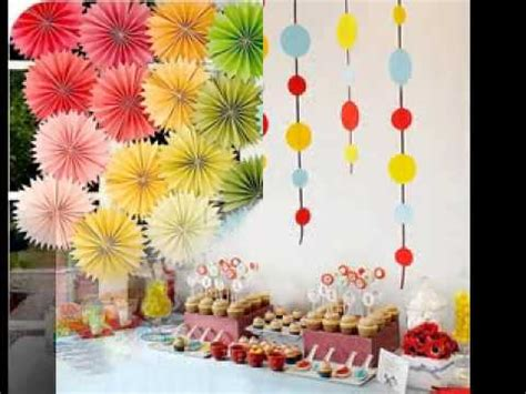 ideas homemade centerpiece for parties my home design diy kids party decorations ideas youtube