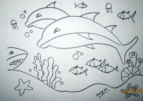 gambar ikan lumba lumba mewarnai hewan laut
