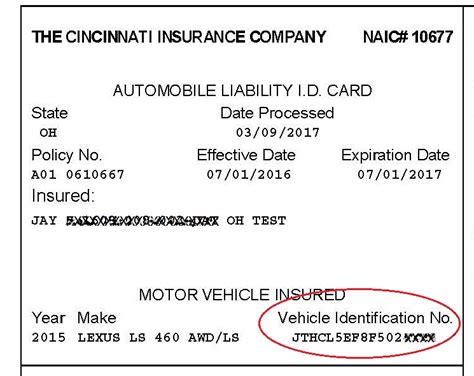 An insurer and an insured, where the insurer undertakes to cover the insured for no member id differs in group id. ID-card-with-VIN - The Cincinnati Insurance Companies blog