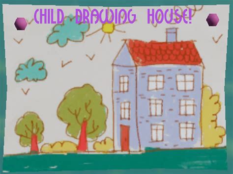 child drawing house mod   neighbor mod db