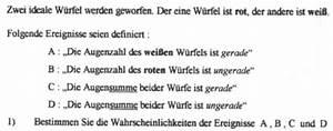 Zerfallskonstante Berechnen : kombinatorik und wahrscheinlichkeitsrechnung ideale w rfel aufgabe mathelounge ~ Themetempest.com Abrechnung