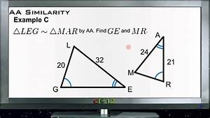 Triangle AA Similarity: Examples (Basic Geometry Concepts ...