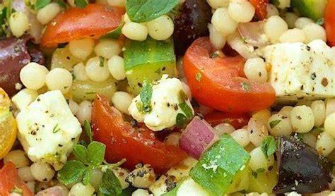 salade de couscous perle au feta olives kalamata